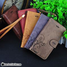 Genuine Leather Flip Wallet Cover iPhone Case All iPhone Models iPhone 5 / 6 / 6Plus 6S Plus