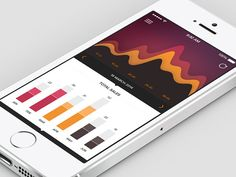 1470181 Mobile UI Design Inspiration: Charts And Graphs Gui Interface, User Interface Design, Ios Design, Mobile Ui Design, Flat Design, Graphic Design, Ui Design Inspiration, Design Trends, Charts And Graphs
