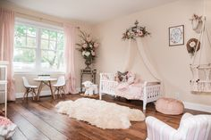 Little Girls Boho Princess Room. Create your daughters dream bedroom with these decor ideas!
