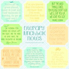 Spool and Spoon literary lunchbox notes | Cool Mom Picks