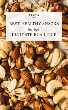 Best Healthy Snacks for the Ultimate Road Trip Good Healthy Snacks, Healthy Dishes, Healthy Treats, Healthy Eating, Healthy Desserts, Paleo Recipes, Paleo Food, Yummy Recipes, Lunches And Dinners
