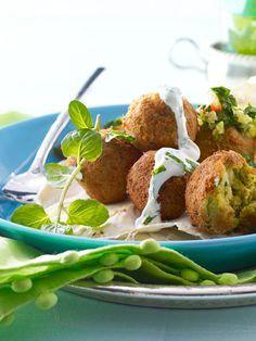 It's a classic: Falafel mit Minz-Joghurt-Soße