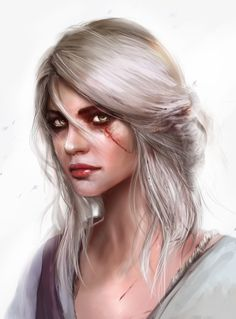Illustration by - Mario Teodosio - The Witcher - Ciri