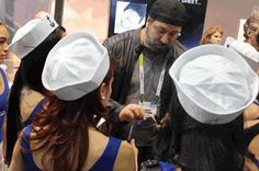 Demonstration at #CES2016 by #DWTS & #NSYNC Star #JoeyFatone at $NXTD #Wocket Booth