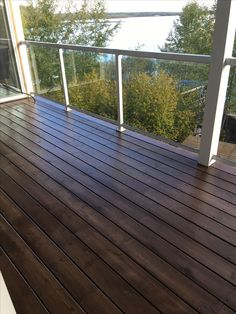 Behr Padre Brown Semitransparent Stain two coats - Modern Design Behr Deck Over Colors, Deck Stain Colors, Deck Colors, Deck Over Behr, Paint Colors, Outside Living, Outdoor Living, Outdoor Decor, Deck Makeover