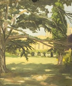 Bright: Churchill's painting of the west front of Blenheim Palace