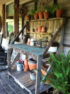 Potting table by maria.t.rogers