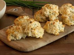 The entertaining experts at HGTV.com share a tasty recipe for cheesy Parmesan Cheddar chive biscuits.