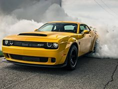 We drive the world's fastest accelerating production car. Y'know, the one with wheelies... Dodge Challenger SRT Demon: 840bhp muscle car tested. Full review live on #TopGear.com >> LINK IN BIO
