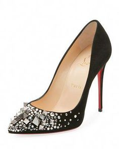 0dd82d4fa4e3 Christian Louboutin Keopomp Velours Embellished Red Sole Pump   ChristianLouboutin