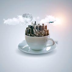 Cup Fantasy - Digital Art (Photoshop Tutorial)