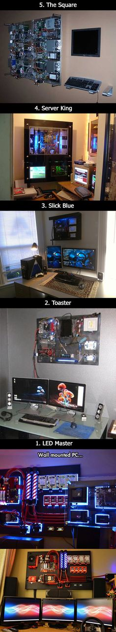 Here are some awesome wall-mounted computer that think outside the box.