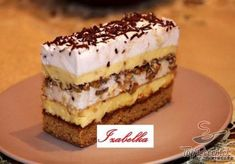 Easy Cake : A cake made of short crust pastry, quark whipped cream filling with vanilla flavor and . Czech Desserts, Cookie Desserts, Just Desserts, Cookie Recipes, Dessert Recipes, Dessert Drinks, Dessert Bars, Cookbook Recipes, Wine Recipes