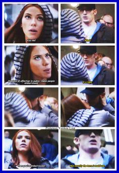 Captain America: The Winter Soldier actually I'm pretty sure the word they use is uncomfortable instead of embarrassed, but this was still one of my favorite parts!!!