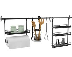 Introducing our new Hanging Kitchen Storage! This nifty new product provides off-the-bench kitchen storage adding extra functionality to your workspace - stylish and practical! Kitchen Hacks, Kitchen Storage, Hanging Storage, New Product, Nifty, Shoe Rack, Bench, Trends, Stylish