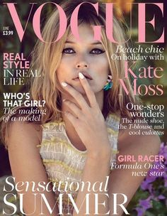 Kate Moss for @Clare Thompson Vogue UK - June 2013 Repinned by www.fashion.net