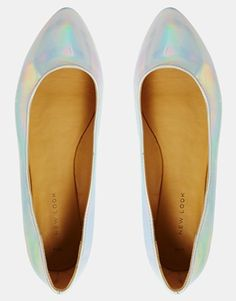 83aa25e3f2be Image 3 of New Look Koinery Irredescent Ballerina Flat Shoes Ballerina Flats