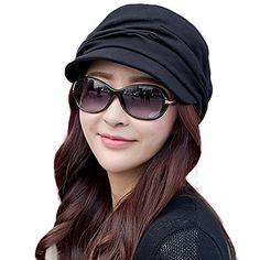 Siggi 100% Cotton Newsboy Cabbie Beret Cap for Women Cloche Visor Bill Hat Black - http://todays-shopping.xyz/2016/05/25/siggi-100-cotton-newsboy-cabbie-beret-cap-for-women-cloche-visor-bill-hat-black/