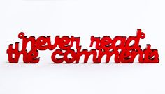 """""""Never Read the Comments"""" Necklace"""