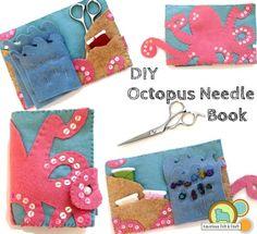 DIY felt needle book tutorial - Octopus