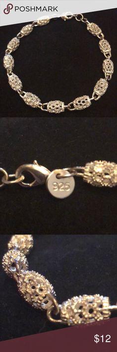 Beautiful Sterling Silver Bracelet Beautiful Sterling Silver Bracelet.... stamped 925....Lobster Clasp. Jewelry Bracelets