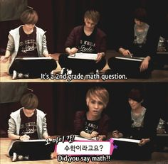 Taemins probably fine with it because it hasn't been that long since second grade for him  ;)