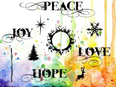 Visible Image - Peace Love and Hope - Clear Polymer Stamp Set