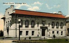 Old Vicksburg Public Library in Warren County, Mississippi.