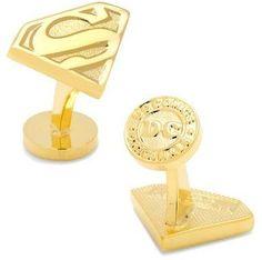 Cufflinks Inc. Men's Gold Superman Shield Cufflinks