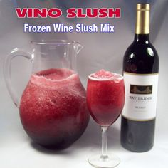 Vino Slush frozen wine slush mix - use with any wine! Just mix it, freeze it and enjoy.