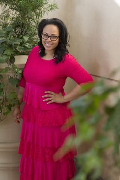 Dreaming in Vintage (Pink) flattering modest summer dress!   Dainty Jewell's