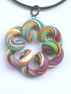 Polymer Clay Pendant | Pendant about 4,0 cm. | By: signeera | Flickr - Photo Sharing!