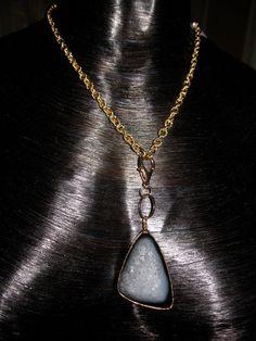 Maven | Black Drusy Necklace #jewelry