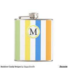 Summer Stripes Personalized Hip Flask
