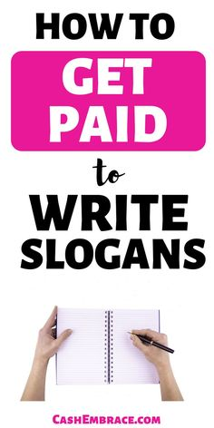 How to make money from home writing slogans: earn an online income simply by monetizing your ideas. Make money online by coming up with slogans. Make Easy Money, Make Money Blogging, Make Money From Home, Way To Make Money, How To Get, Money Fast, Slogan Writing, Writing Jobs, Online Income