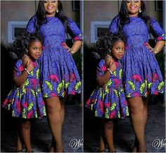2019 Lovely Ankara for Mum and kids Ankara Styles For Kids, African Dresses For Kids, African Wear Dresses, African Fashion Ankara, African Print Fashion, African Attire, Girls Dresses, Mother Daughter Matching Outfits, Mother Daughter Fashion