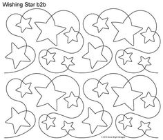 AnneBright.com - Shop | Category: Digitized Designs | Product: Wishing Star b2b Great for a Baby Quilt!