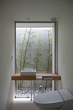 Inspiring Small Japanese Garden Design Ideas – Decorating Ideas - Home Decor Ideas and Tips Patio Interior, Bathroom Interior, Interior And Exterior, Interior Plants, Interior Modern, Small Japanese Garden, Japanese Garden Design, Japanese Style House, Japanese Gardens