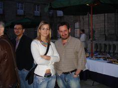 Julio Alonso con Gema Bueno en FESABID 2007 - 10as. Jornadas Españolas de Documentación (Santiago de Compostela