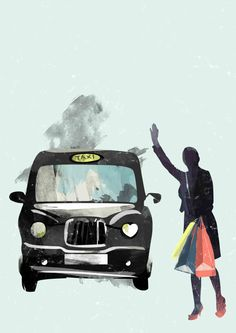 London Taxi  Graphic Print Illustration Limited by CTIllustration