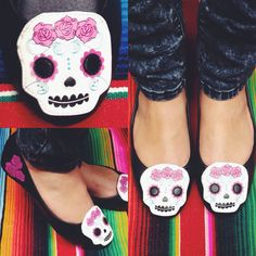 Happy sugar skull flats! #blamebetty #sugarskull #cutest