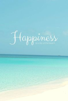 Happiness is going to the beach | Quote of the day. For Maternity Inspiration, Shop here >> http://www.seraphine.com/us- Words of wisdom |quotes | inspiration |beautiful | words of encouragement | summer | positivity | happiness