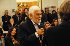 Ermanno Rea interviene durante la presentazione da Fandango Incontro a Roma. (Foto di Francesco Mileto.)