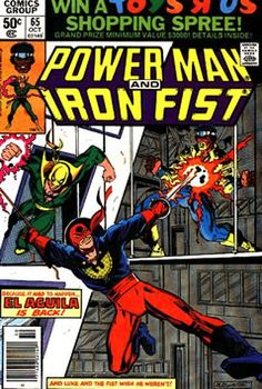 El Aguila (The Eagle) in Power Man and Iron Fist Star Comics, Marvel Comics, Comic Book Covers, Comic Books, Comic Art, Luke Cage Iron Fist, Luke Cage Marvel, Heroes For Hire, Power Man
