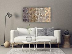 textured wood wall art mosaic wall hanging d wood wall art wood wall decor grey brown modern wooden wall art Wooden Wall Design, Rustic Wood Wall Decor, Rustic Walls, Wooden Wall Art, Wooden Walls, Wooden Blocks, Wooden Decor, Wood Art, The Block