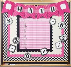 Jazz up your room or a bulletin board with the popular pink, black and gray color combination. This sleek look includes three different border styles, pink pennant banners, incentive chart and stickers, chart cards and letters by Creative Teaching Press