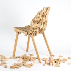 The Brick Chair by Frederik Kurzweg