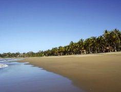 Pristine warm sand beach at Playa Las Tortugas, Nayarit