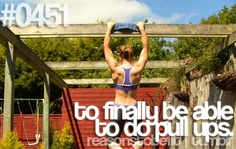 This would be one of my goals for this year... to be able to do pull ups on my own! #fitness #goal