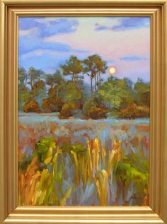 Moonlight Marsh, Kiawah, South Carolina. Painting by Shannon Smith Hughes, Anglin Smith Fine Art (http://anglinsmith.com/)
